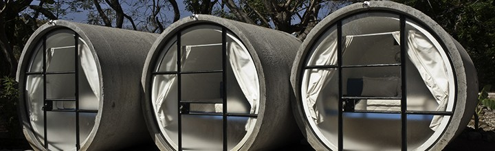 Tubohotel: Un hotel hecho con tubos de hormigón reciclados