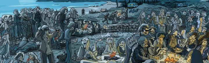 'Apuntes. Bocetos de una peli de Garriris.' La nueva exposición de Mariscal.