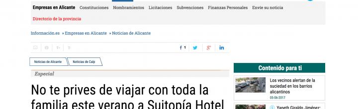 Periódico Información – Especial Suitopia Hotel